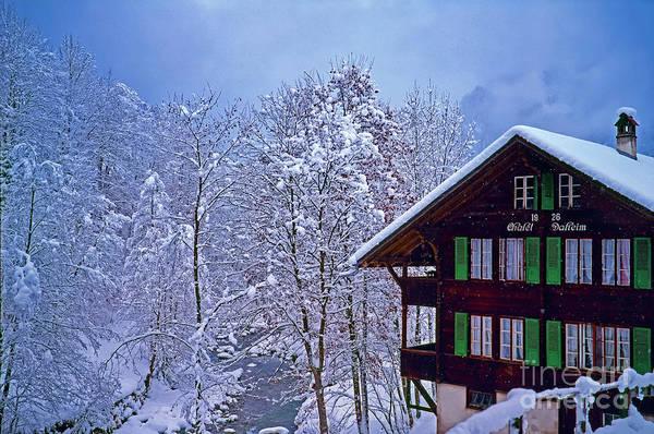 Photograph - Chalet Daheim Swiss Alps by Tom Jelen