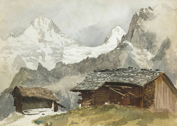Drawing - Chalets, Breithorn, Murren by John Singer Sargent