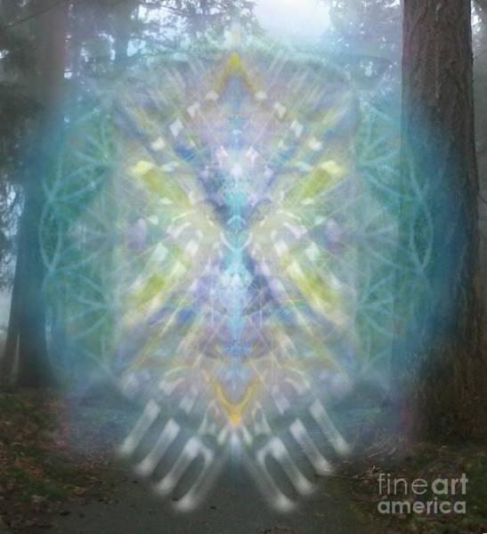 Digital Art - Chalice-tree Spirit In The Forest V1 by Christopher Pringer