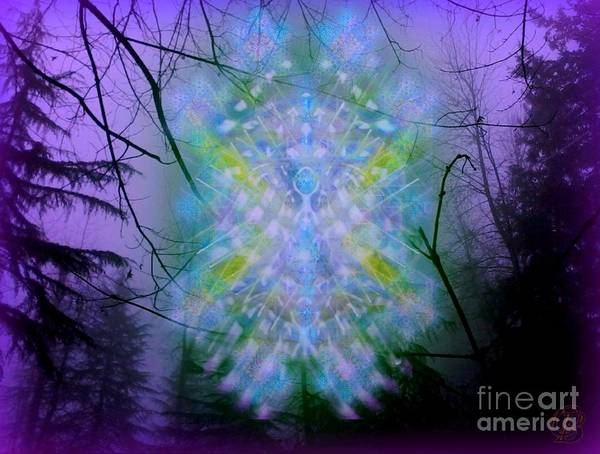 Digital Art - Chalice-tree Spirit In The Forest V1a by Christopher Pringer