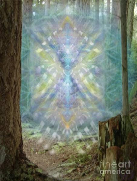 Digital Art - Chalice-tree Spirt In The Forest V2 by Christopher Pringer