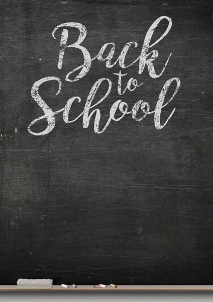 Back-to-school Digital Art - Chalk Board by Allan Swart