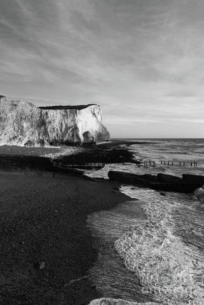 Photograph - Chalk Cliffs At Seaford Head England by James Brunker