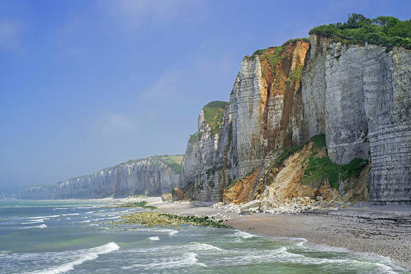 Photograph - Chalk Cliffs At Yport, Normandy by Arterra Picture Library