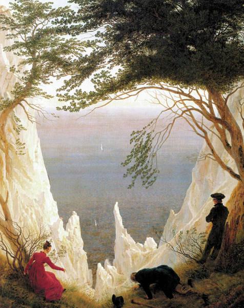 Winterthur Wall Art - Painting - Chalk Cliffs On Rugen by Caspar David Friedrich