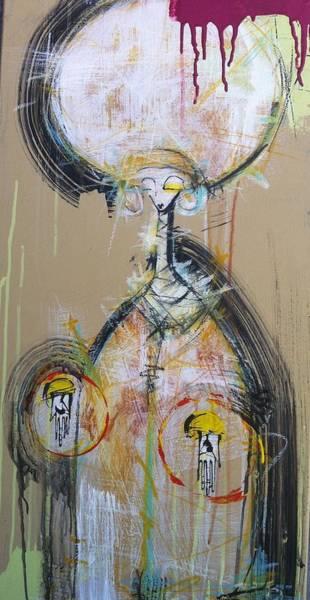 Outsider Art Painting - Challenge Of Nimrod Semiazaz  by Mark M  Mellon