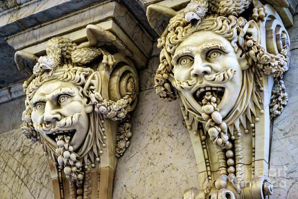 Photograph - Chamber Of Commerce Gargoyles Cadiz Spain by Pablo Avanzini