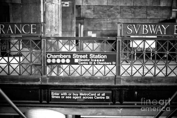 Photograph - Chambers Street Station by John Rizzuto