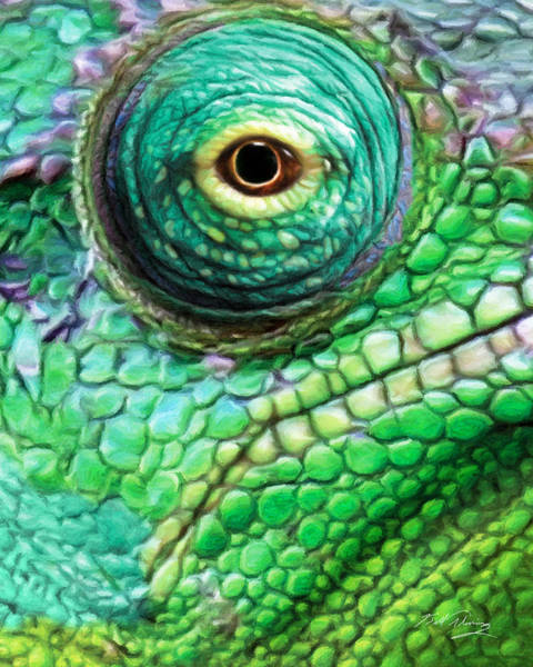Lizard Digital Art - Chameleon by Bill Fleming