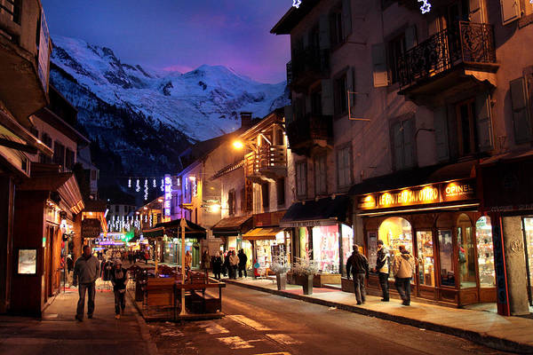 Photograph - Chamonix Town In The Shadow Of Mont Blanc In The French Alps by Pierre Leclerc Photography