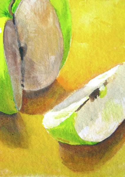 Atc Painting - Champagne Shadows by Deborah Secor