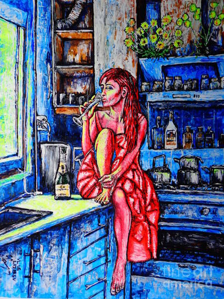 Acrilic Painting - Champagne by Viktor Lazarev