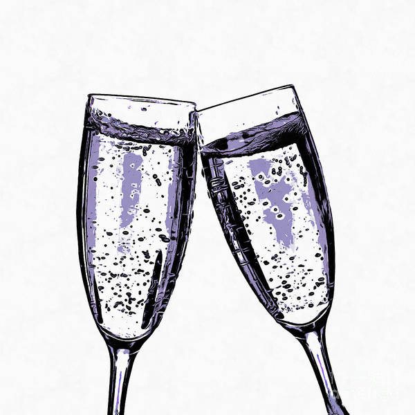 Wall Art - Digital Art - Champagne Wishes And Caviar Dreams by Edward Fielding