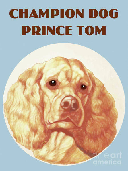 Field Spaniel Painting - Champion Dog Prince Tom by Marian Cates