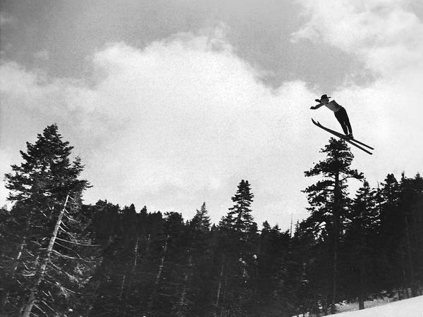 Ski Jumping Photograph - Champion Ski Jumper by Underwood Archives