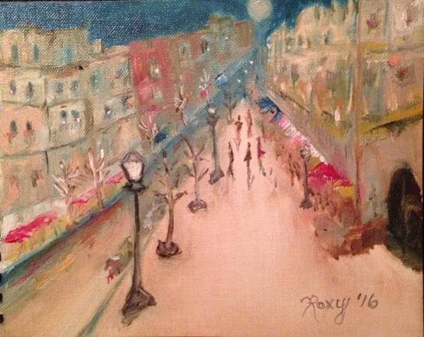Wine Painting - Champs De Elysee At Twilight. #paris by Roxy Rich