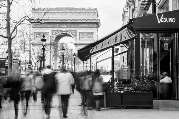 Photograph - Champs Elysees And Arc Triomphe - Paris by Barry O Carroll