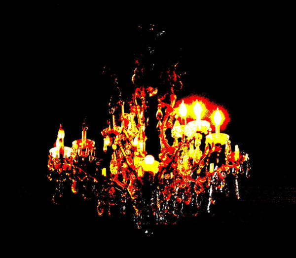 Photograph - Chandelier by W And F Kreations