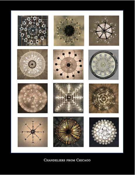 Photograph - Chandeliers From Chicago Poster by Annette Hadley