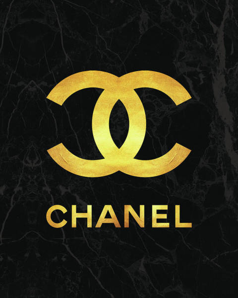 Wall Art - Digital Art - Chanel - Black And Gold - Lifestyle And Fashion by TUSCAN Afternoon