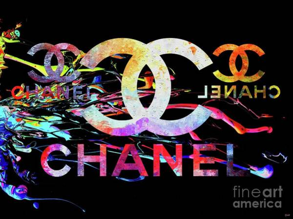 Black Mixed Media - Chanel Black by Daniel Janda