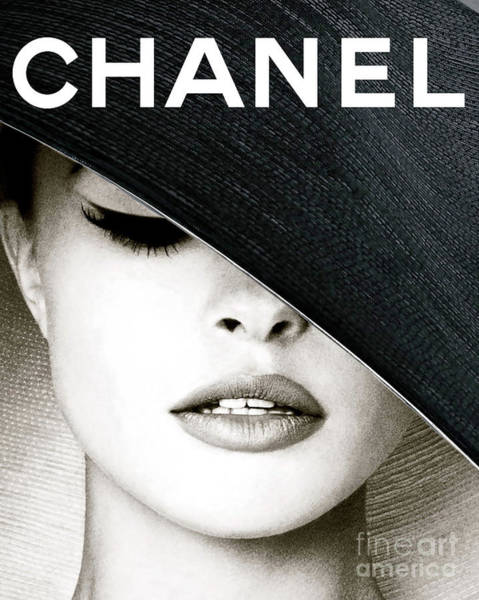 Le Mans Mixed Media - Chanel, Black Hat Cover by Thomas Pollart