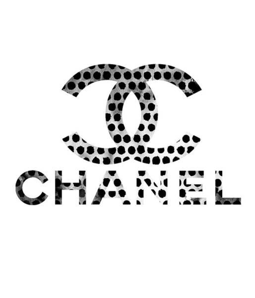 Wall Art - Digital Art - Chanel Black Points 4 by Del Art