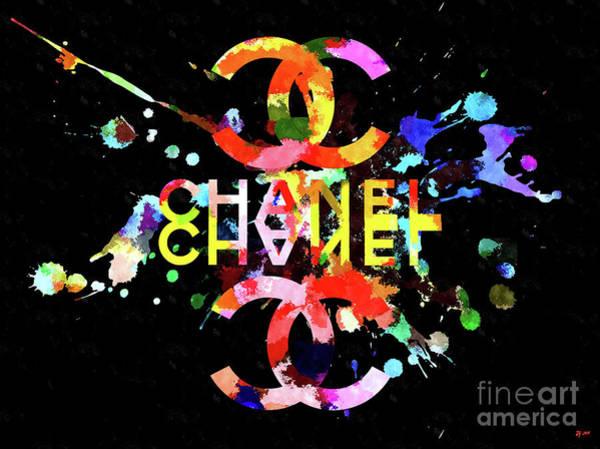 Logo Mixed Media - Chanel Blacky Black by Daniel Janda