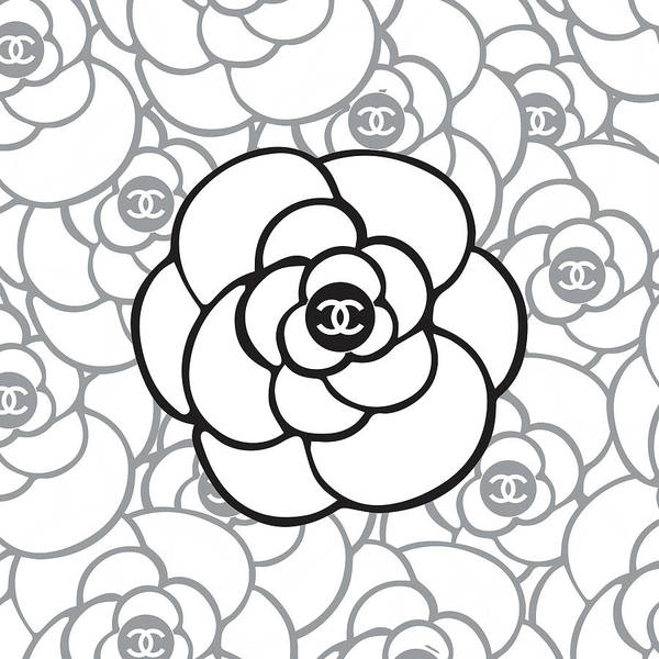 Wall Art - Digital Art - Chanel Camellia - 02 - Fashion And Lifestyle by TUSCAN Afternoon
