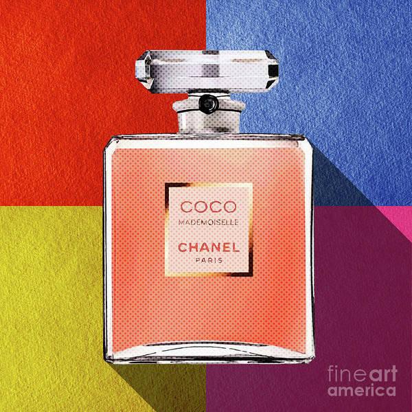 Mademoiselle Digital Art - Chanel-coco-mademoiselle_pop01 by Bobbi Freelance
