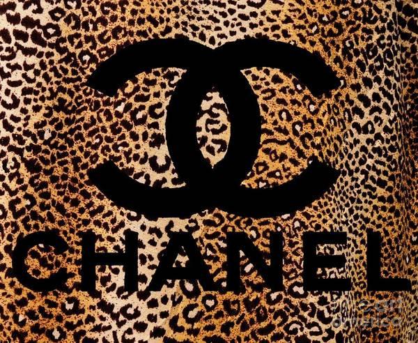 Wall Art - Digital Art - Chanel Leopard 5 by Del Art