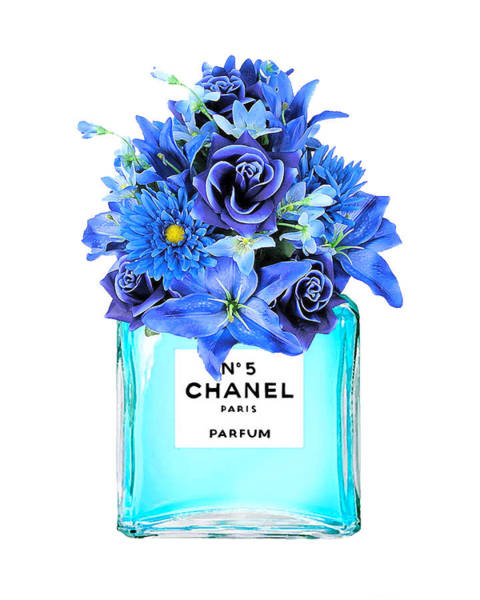 Chanel Mixed Media - Chanel  N.5 Perfume Print by Del Art