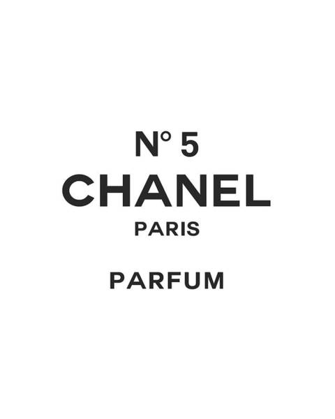 Wall Art - Digital Art - Chanel No 5 Parfum - Black And White 01 - Lifestyle And Fashion by TUSCAN Afternoon