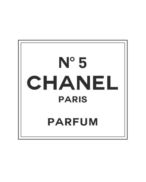 Wall Art - Digital Art - Chanel No 5 Parfum - Black And White 02 - Lifestyle And Fashion by TUSCAN Afternoon