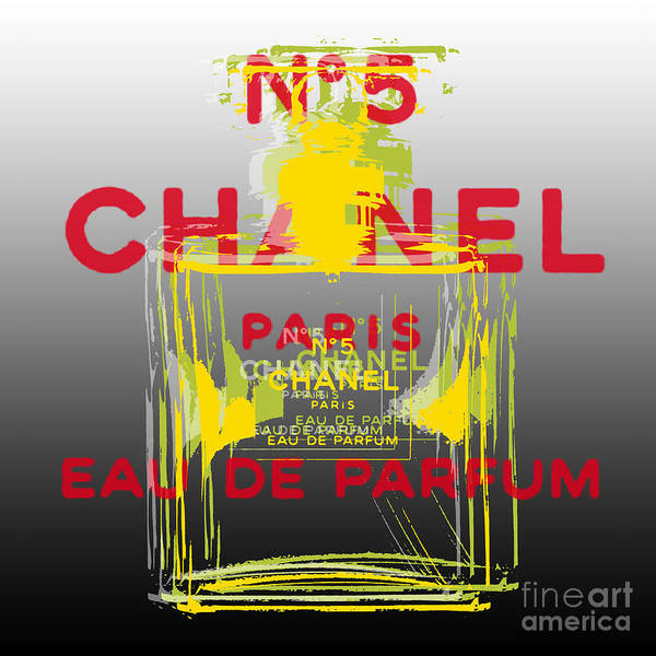 Digital Art - Chanel  No. 5 Pop Art - #1 by Jean luc Comperat
