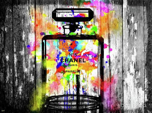 Vogue Mixed Media - Chanel No. 5 Wooden by Daniel Janda