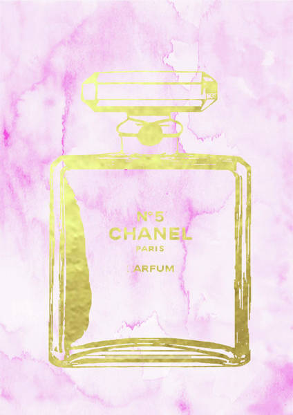 Chanel Mixed Media - Chanel Perfume N.5 Poster by Del Art