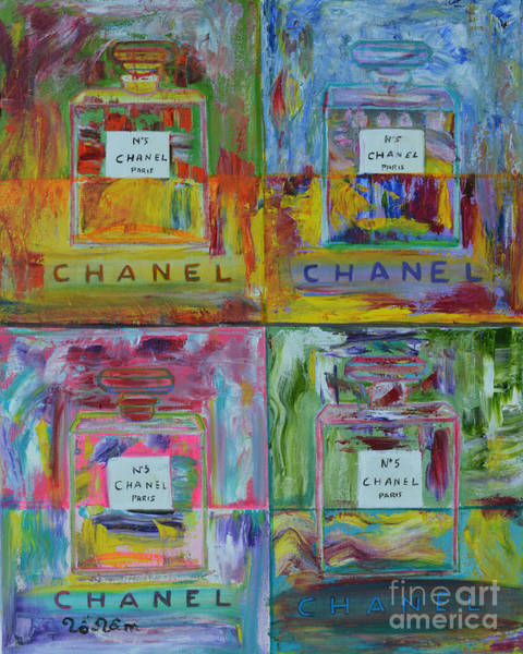 Wall Art - Painting - Chanel Pop Art by To-Tam Gerwe