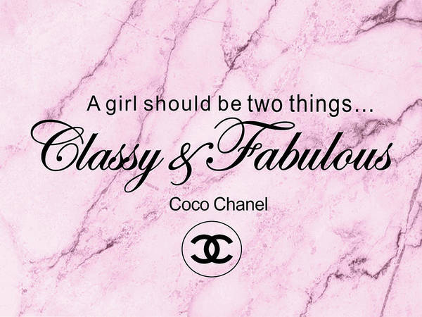 Vogue Mixed Media - Chanel Quote by Del Art