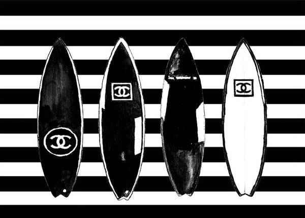 Wall Art - Painting - Chanel Surfboards Poster Chanel Surfboards Print by Del Art