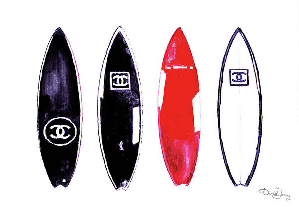 Wall Art - Painting - Chanel Surfboards Print Chanel Surfboards Poster Chanel Surfboards Decor by Del Art