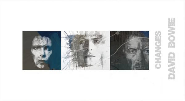 Wall Art - Mixed Media - Changes David Bowie Triptych by Paul Lovering