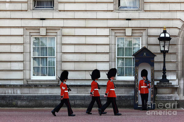 Sentry Box Photograph - Changing Of The Guard 1 by James Brunker