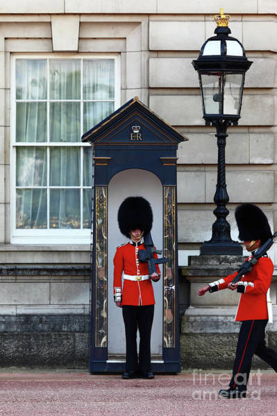 Sentry Box Photograph - Changing Of The Guard 2 by James Brunker