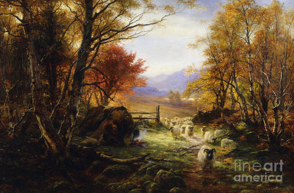Changing Painting - Changing Pastures, Evening by Joseph Farquharson