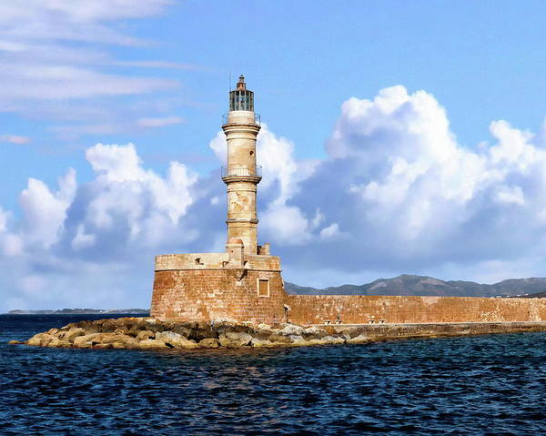 Photograph - Chania Lighthouse by Anthony Dezenzio