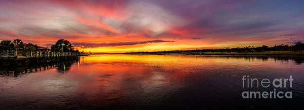 Photograph - Channel Sunset by David Smith