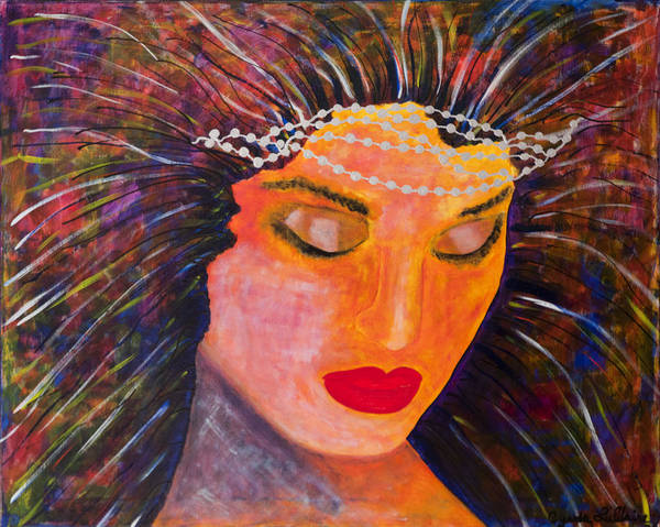 Summoning Painting - Channeling My Inner Amazon by Cynda LuClaire
