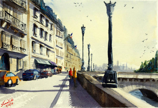 Wall Art - Painting - Channeling Paris by James Nyika