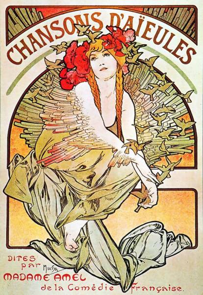 Painting - Chansons D'aieules by Alphonse Mucha